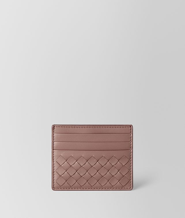 BOTTEGA VENETA DECO ROSE INTRECCIATO NAPPA CARD CASE Card Case or Coin Purse E fp