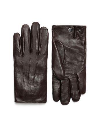 Dark Brown Nappa Gloves