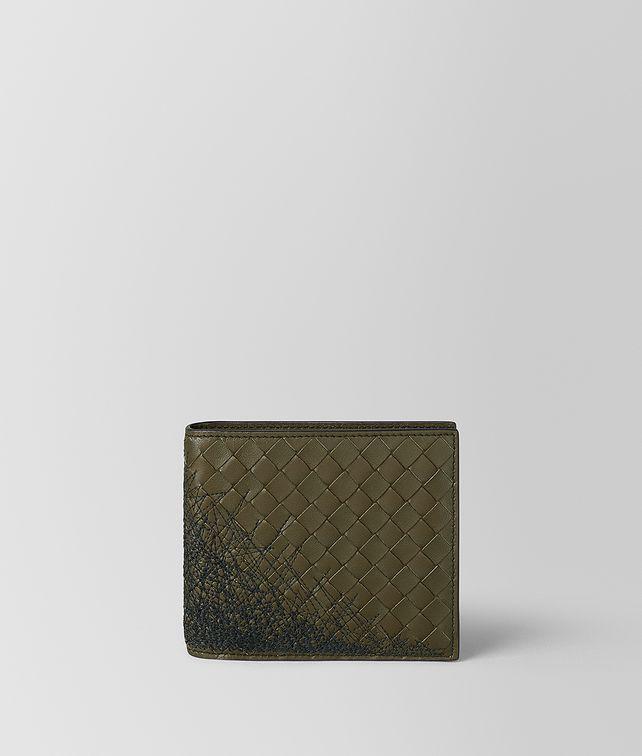 BOTTEGA VENETA MUSTARD/NERO INTRECCIATO SCRIBBLE 18 WALLET Bi-fold Wallet [*** pickupInStoreShippingNotGuaranteed_info ***] fp