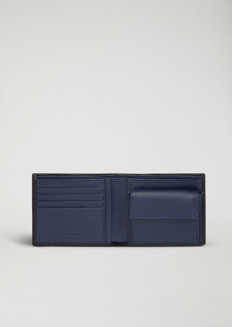 Wallet in boarded printed leather