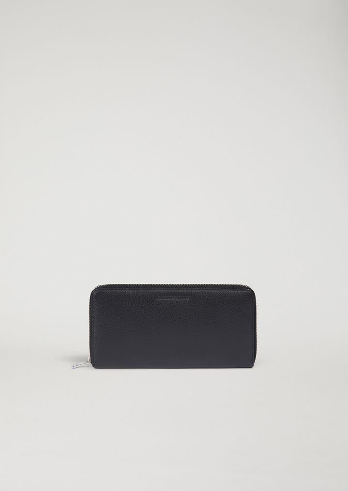 86319ad6ccfb Zip around wallet in tumbled leather