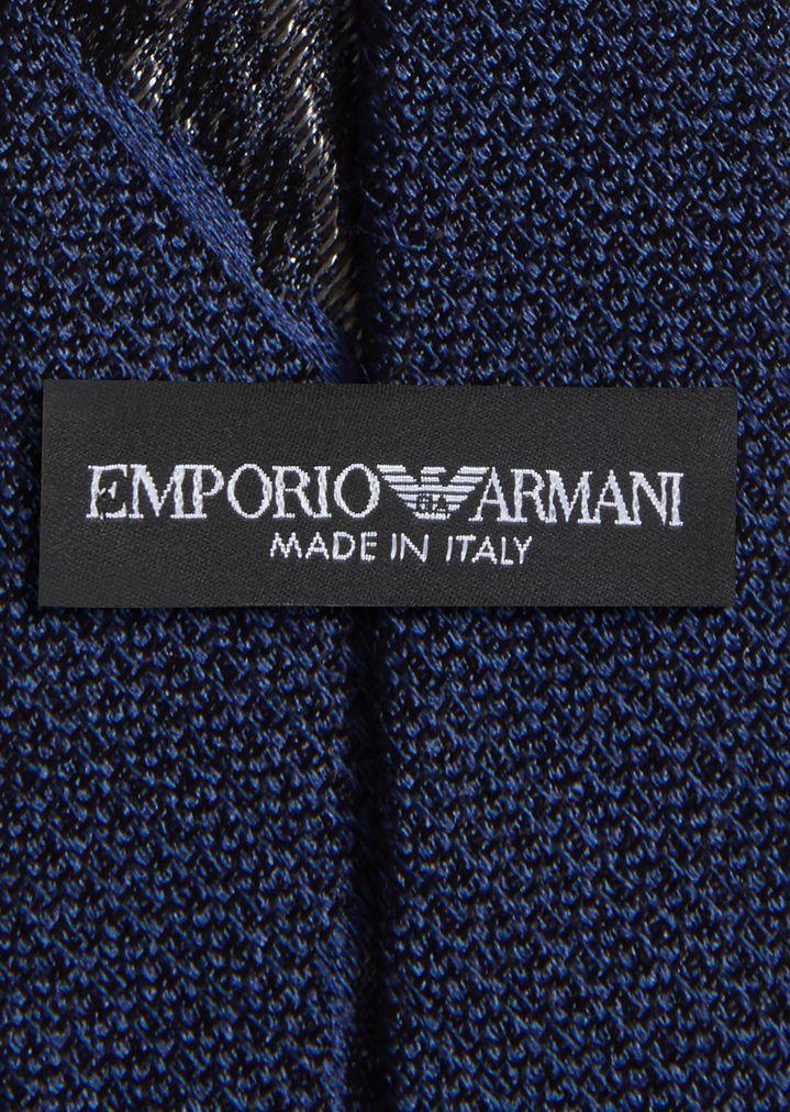 emporio armani seidenkrawatte mit jacquard muster krawatte herren e - Jacquard Muster