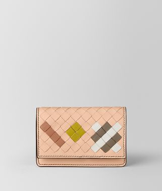 PEACH ROSE INTRECCIATO ABSTRACT CARD CASE