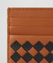 dark leather intrecciato checker card case Back Portrait