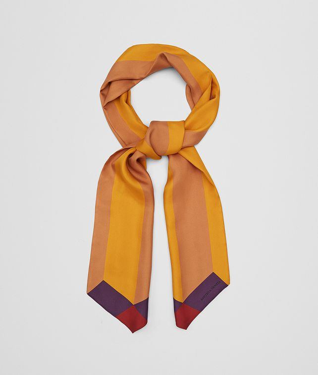 BOTTEGA VENETA MULTICOLOR SILK TWILL SCARF Scarf [*** pickupInStoreShipping_info ***] fp