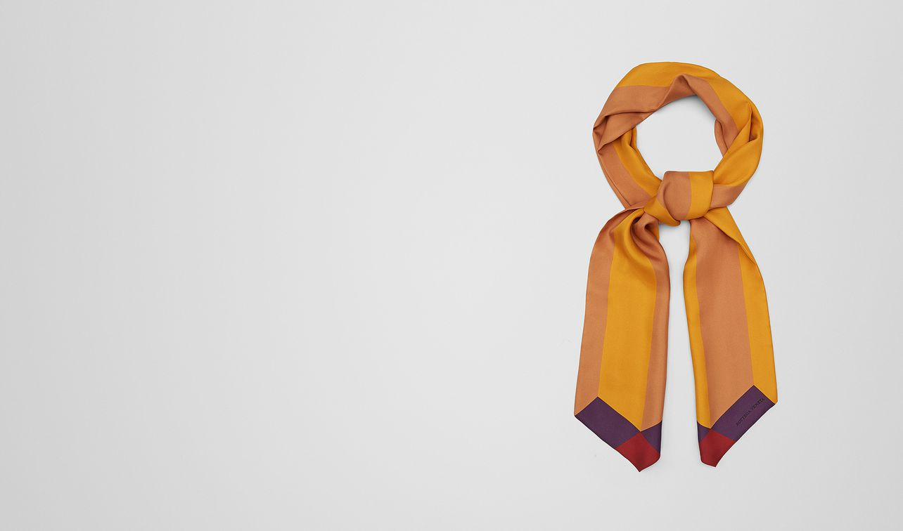 multicolor silk twill scarf landing