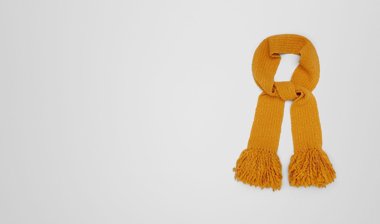 tangerine wool scarf  landing