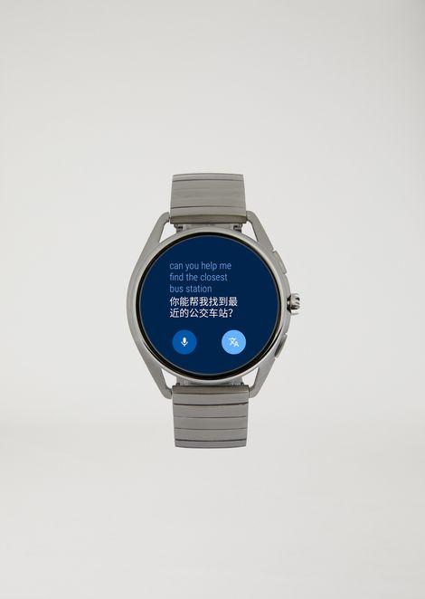 Smartwatch con pantalla táctil, de acero inoxidable