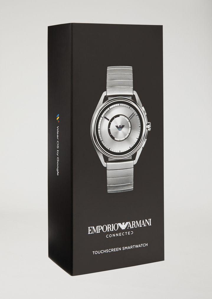 EMPORIO ARMANI ステンレススチール製 タッチスクリーン スマートウォッチ コネクテッド E b