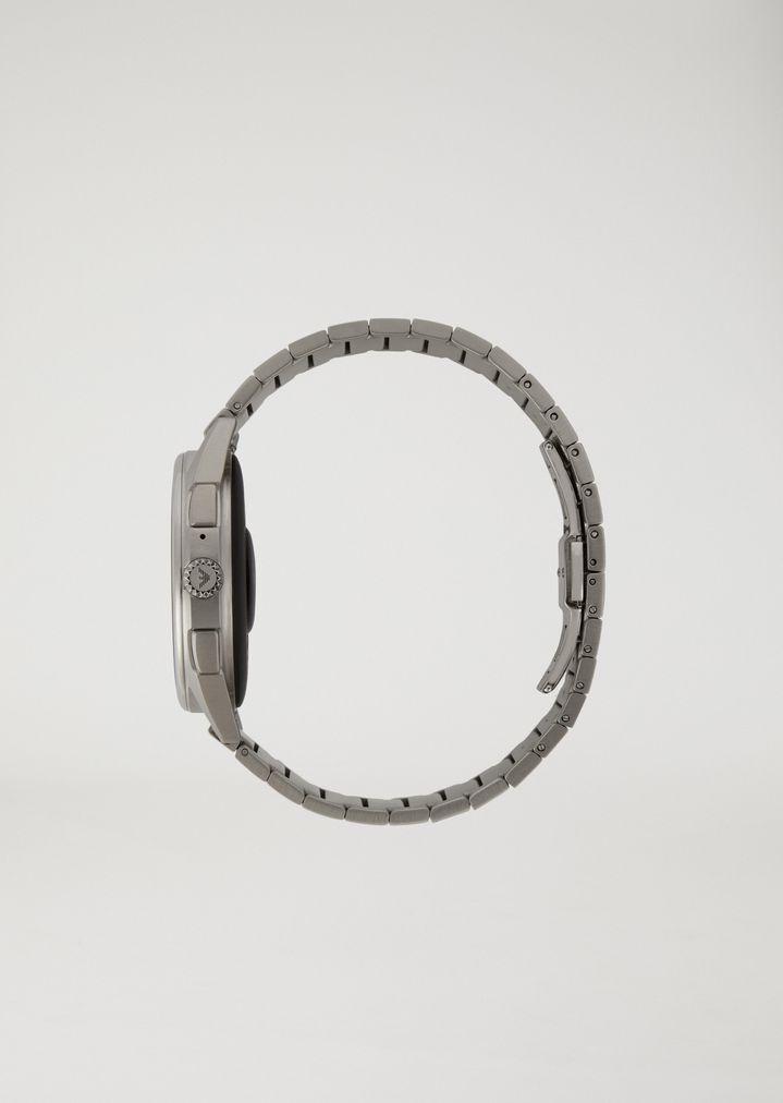 EMPORIO ARMANI ステンレススチール製 タッチスクリーン スマートウォッチ コネクテッド E e