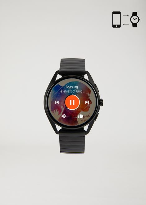 Emporio armani touchscreen stainless steel smartwatch