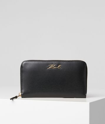 KARL LAGERFELD K/SIGNATURE ZIP WALLET