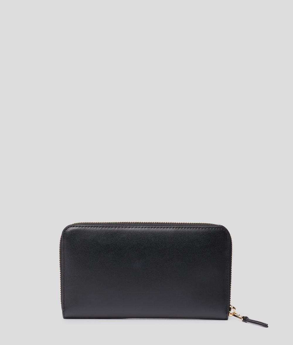 KARL LAGERFELD K/Signature Zip Wallet Wallet Woman d
