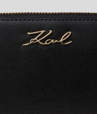 KARL LAGERFELD K/Signature Zip Wallet Wallet Woman a