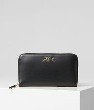 KARL LAGERFELD K/Signature Zip Wallet Wallet Woman f