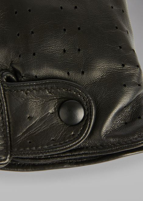 Gloves in perforated nappa leather with cashmere lining