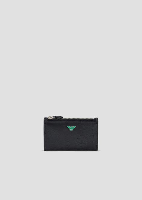 Wallet in boarded leather