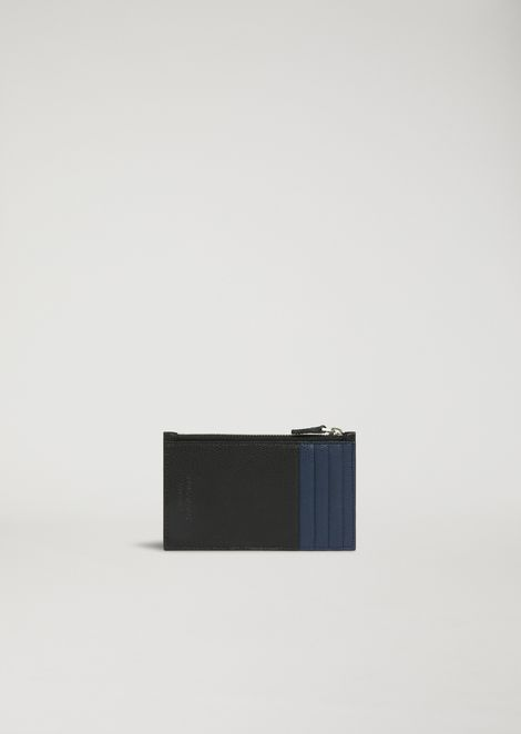 Cardholder in boarded leather