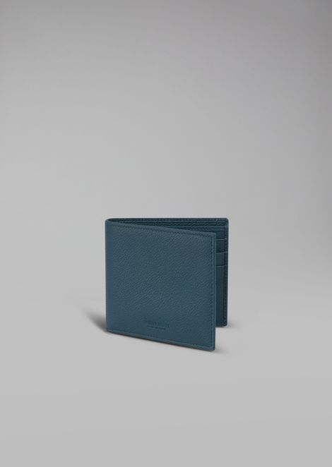 Bifold wallet in grained calfskin