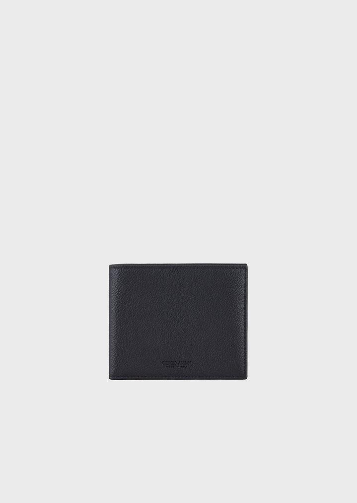 74e7f983f2 Bifold wallet in grained calfskin