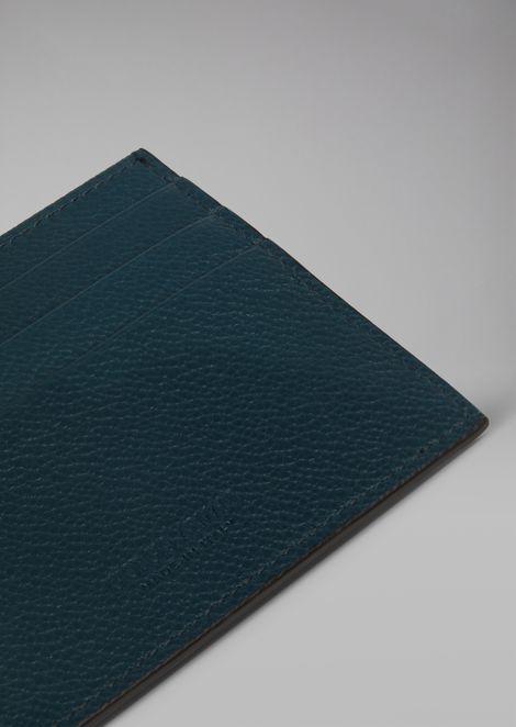 Cardholder in grained calfskin