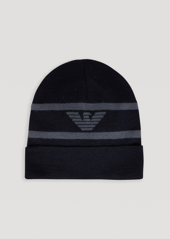 9df2149ab8c Knitted beanie with embroidered eagle