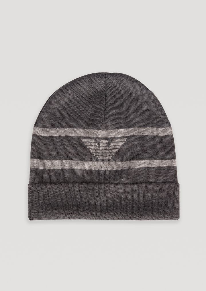 3da1d666c42 Knitted beanie with embroidered eagle