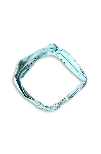MISSONI Head band Sky blue Woman - Back