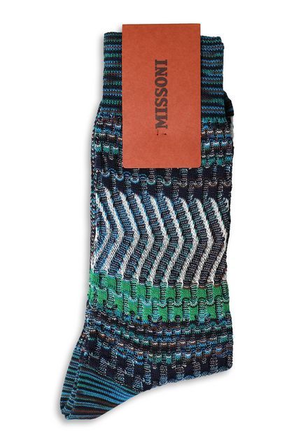 MISSONI Short socks Dark blue Man - Front