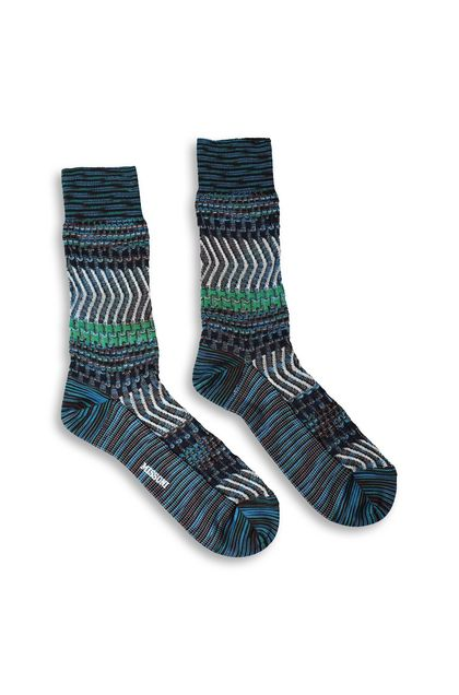 MISSONI Short socks Dark blue Man - Back