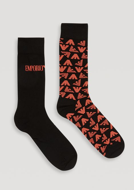 Set of 2 pairs of socks with embroidered logo