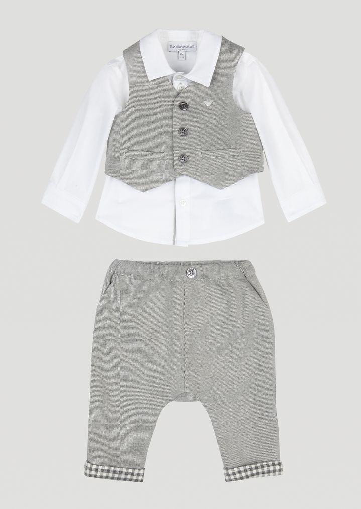 half price super popular cheap prices Completo cerimonia con gilet, camicia e pantaloni in cotone ...