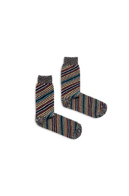 MISSONI Long socks Dark green Man - Back