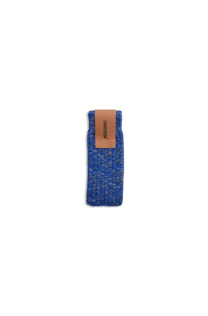 MISSONI Long socks Bright blue Man - Front