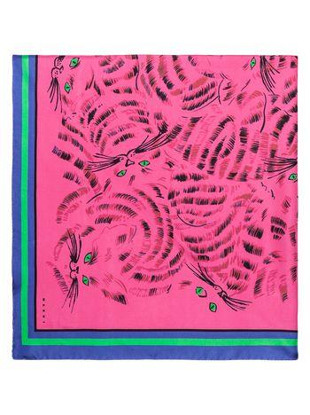 Marni Scarf in fuchsia printed silk Woman