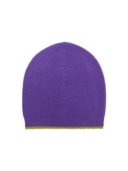 Marni Hat in purple and acid green virgin wool, mohair and nylon Woman