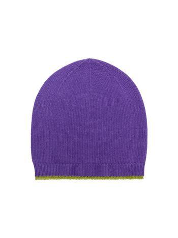 Marni Cappello in lana vergine mohair e nylon viola e verde acido Donna