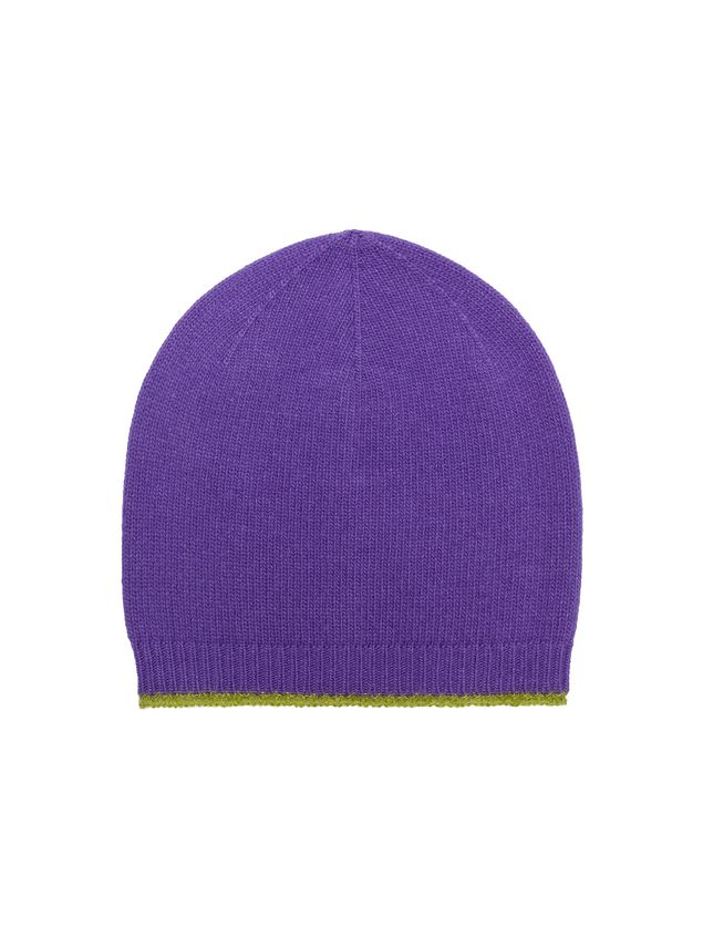 c389a7f08 Hat In Purple And Acid Green Virgin Wool, Mohair And Nylon from the ...