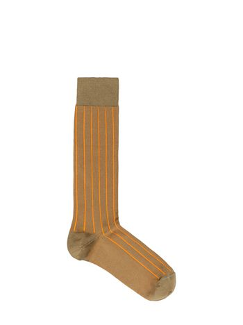 Marni Sock in green and orange silk and nylon Woman