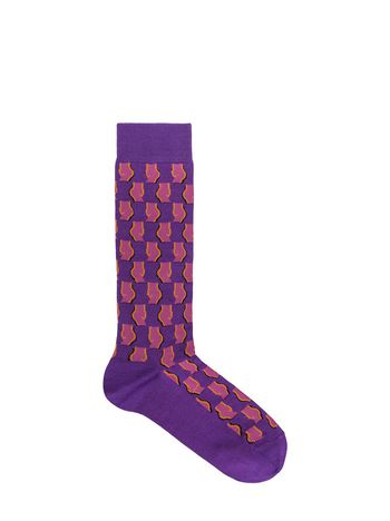 Marni Sock in purple cotton and nylon jacquard Woman
