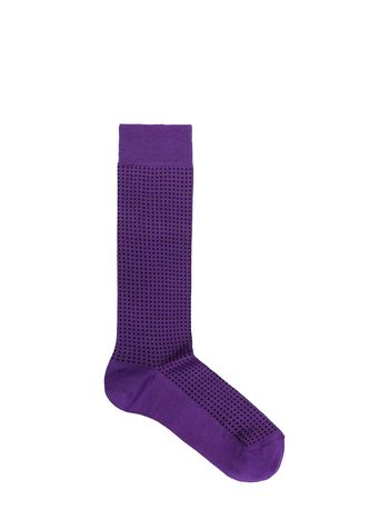 Marni Sock in purple cotton and nylon with micro dots Woman
