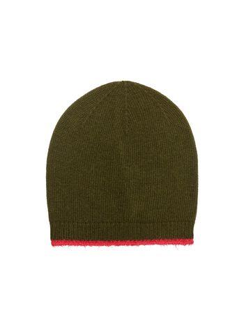 Marni Cappello in lana vergine mohair e nylon verde e fuxia Donna