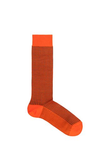 Marni Sock in orange cotton and nylon with micro dots Woman