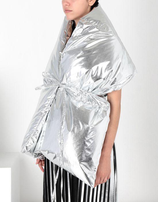 MM6 MAISON MARGIELA Silver oversized puffer scarf Scarf [*** pickupInStoreShipping_info ***] b