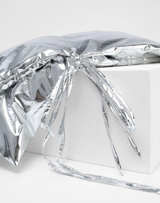 MM6 MAISON MARGIELA Silver oversized puffer scarf Scarf [*** pickupInStoreShipping_info ***] d