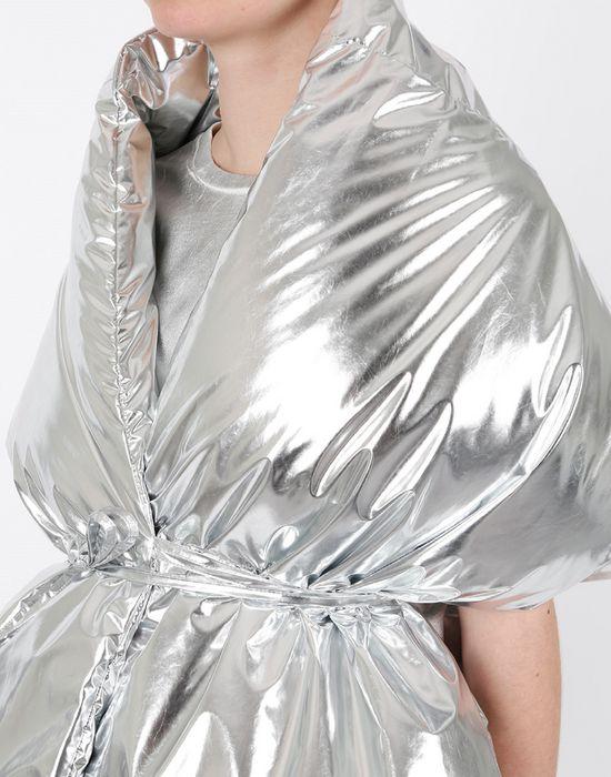 MM6 MAISON MARGIELA Silver oversized puffer scarf Scarf [*** pickupInStoreShipping_info ***] e