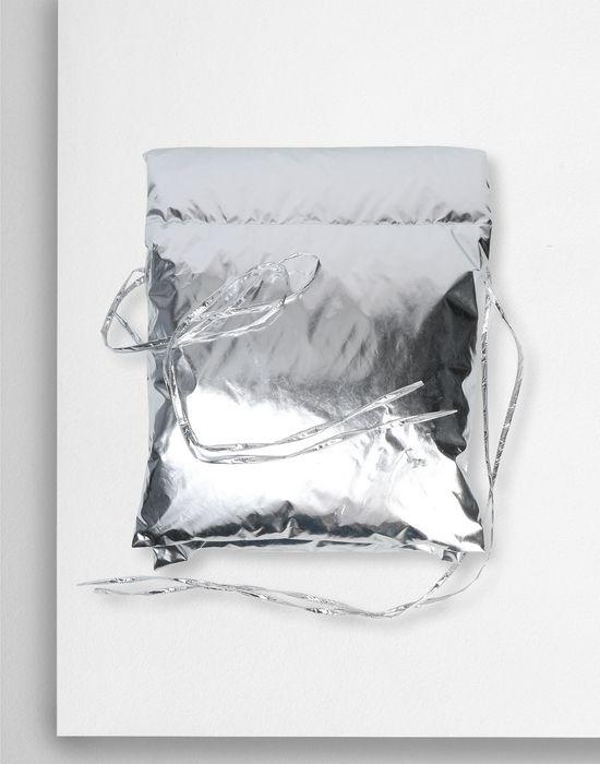 MM6 MAISON MARGIELA Silver oversized puffer scarf Scarf [*** pickupInStoreShipping_info ***] f