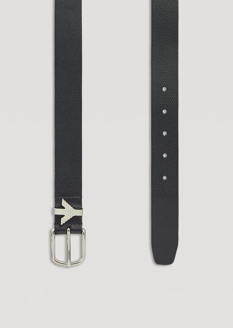 Leather belt with eagle loop