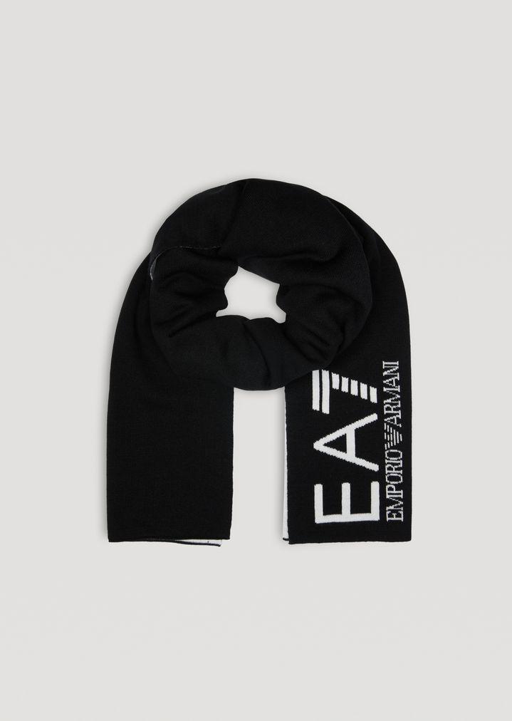 Écharpe bicolore avec logo EA7   Femme   Ea7 6b48c66bfd3