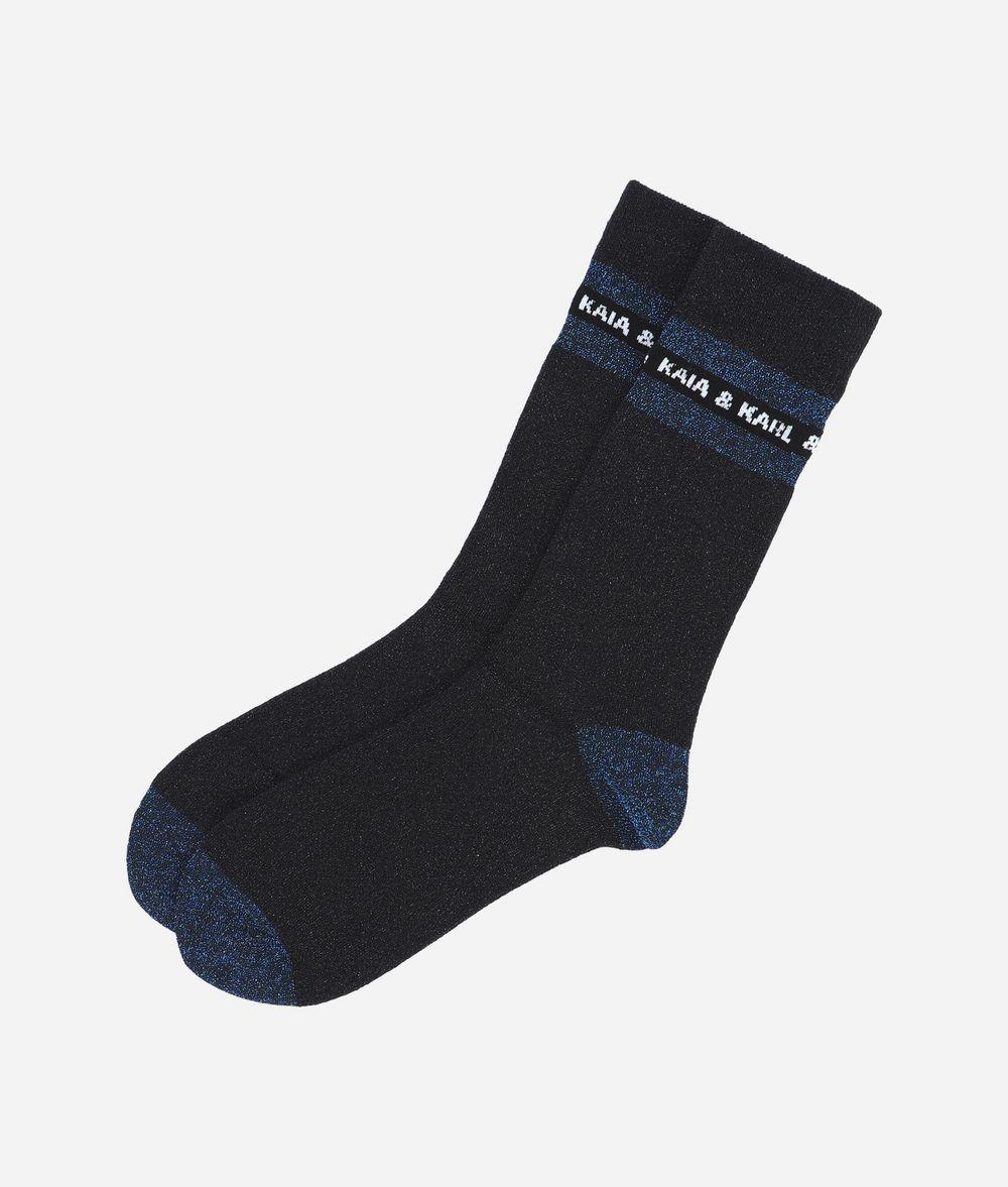 KARL LAGERFELD Karl X Kaia Glitter Socks Sock Woman f